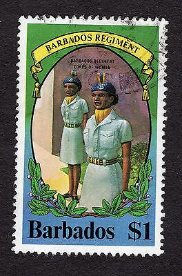 1980 Barbados 1$ Regiment womans corps SG658 FINE USED R31331