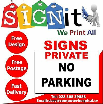 Private No Parking Sticker, Correx Plastic Or Aluminium Sign - DD0017