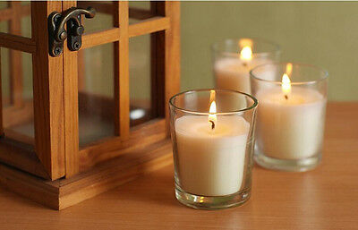 Clear Glass Candle Holders BULK Oil Burner Water Cups For Event Wedding Decor