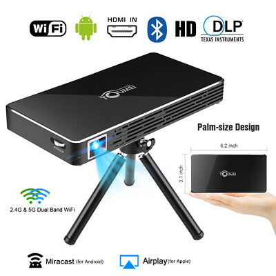 Mini WiFi Bluetooth DLP LED Home Projektor Heimkino Beamer 1080P HD 2000:1 Home