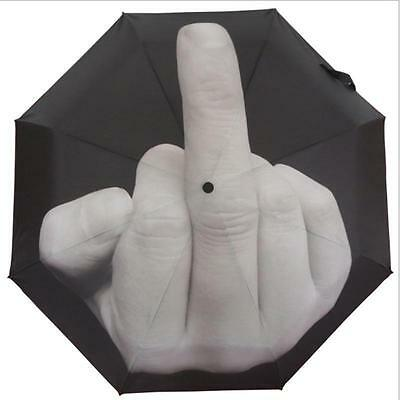 New My Goodies Direct Middle Finger Up Yours Umbrella Foldable Rain Gift US SHIP