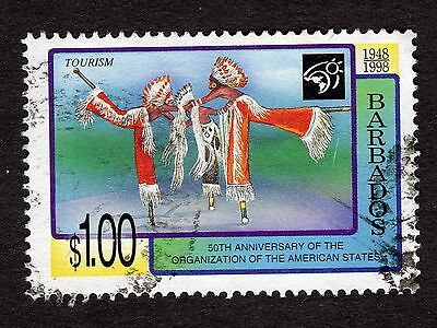 1998 Barbados $1 50th Anniv Organization of US States SG1123 GOOD USED R32829