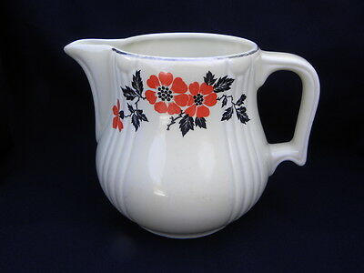 Vintage Hall China Radiance Red Poppy #5 Water Pitcher Jug