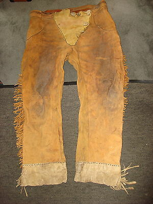 "Leather Pants Reenactor, Pow Wow Indian Pioneerl Mountain Man 41"" x 27"""