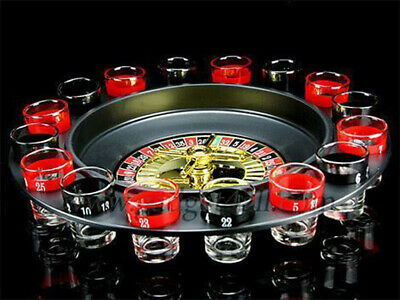 Roulette  Drinking Game With 16 Shot Glasses- Party Stag Hen Spin