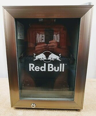 Red Bull Commercial Reach In Counter Top Mini Fridge Cooler Display Refrigerator