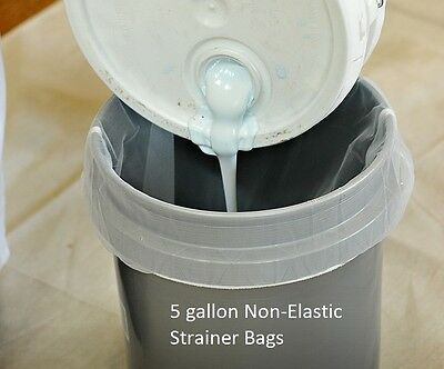 Paint Strainer Bags 5 Gallon Non-elastic top 12 Pack Nylon