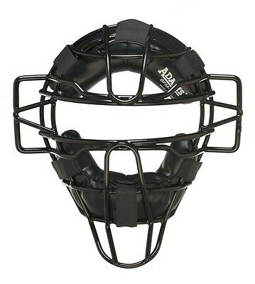 Adams BFM-3 One-Size Umpire/Catcher Lightweight Face Guard - Black OSFM