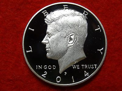 2014 P 90% SILVER KENNEDY 50th ANNIV PROOF DEEP CAMEO GEM HALF DOLLAR  #22R
