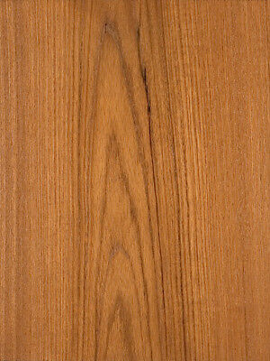 "Teak Wood Veneer Plain Sliced Paper Backer Backing 2' x 8' (24"" x 96"") Sheet"