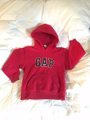 Fleece Hoodie GAP Kids Pullover Size 6-7 Red