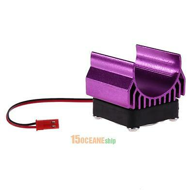 Aluminium Heat Sink With Fan Cooling Head for 1/10 RC Car 540/550/3650 Motor 5V