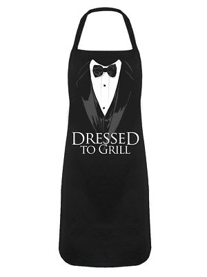 Dressed To Grill Black Apron