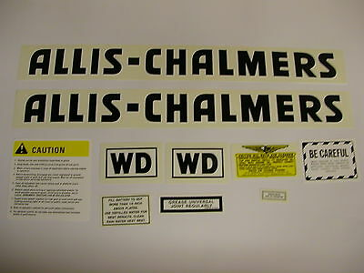 Allis Chalmers Model WD Tractor Decal Set Black NEW - FREE SHIPPING