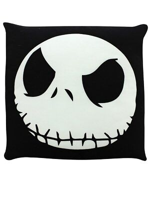Nightmare Before Christmas Jack Face Black Cushion 48x48cm