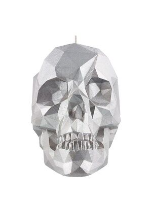 Silver Crystal Skull Candle Candles & Incense 28x10cm