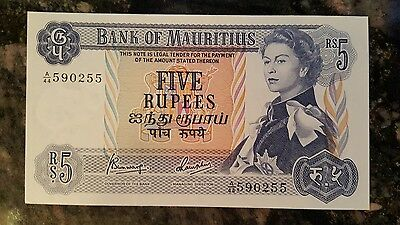 1967 Mauritius - Five / 5 Rupees Banknote