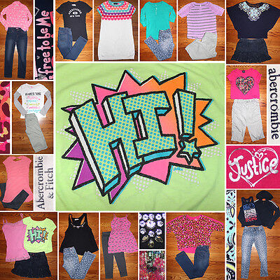 Girls Size 10/12 Back To School Clothes Lot, Jeans, Tops, Abercrombie, Justice!