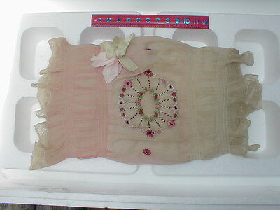 VINTAGE 1920'S LACE BOUDOIR EMBROIDERED PILLOW - RECTANGLE SHAPE (c)