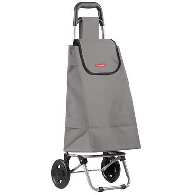 New Typhoon Shop Trolley 25 Liter Grey Shopping Grocery Cart Foldable Portable