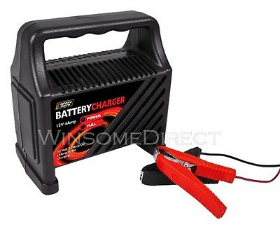 12v Heavy Duty 4 Amp Portable Car Van Bike Vehicle Truck Battery Trickle Charger