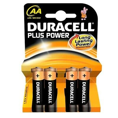 Duracell Alkaline Batteries Pack 4 AA *Long Lasting Power*