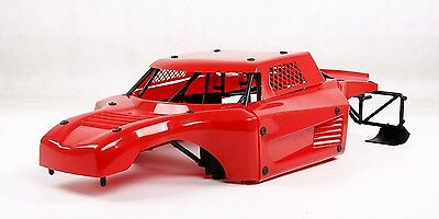 Car Body Shell Panels WITH Roll Cage for 1/5 Losi 5ive T Plastic Red