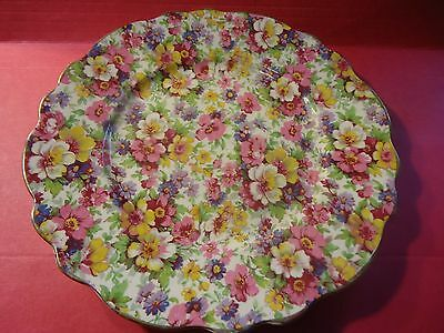 "James Kent DuBarry Chintz 8"" Plate Marked England # 14 Vintage Floral Dish"