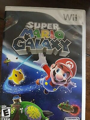 Nintendo Wii Super Mario Galaxy Game And Case No Manual