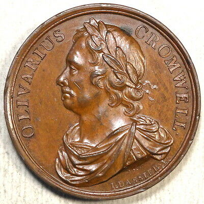 Bronze Medal, Death of Oliver Cromwell, Dassiers King & Queens Series, 1731