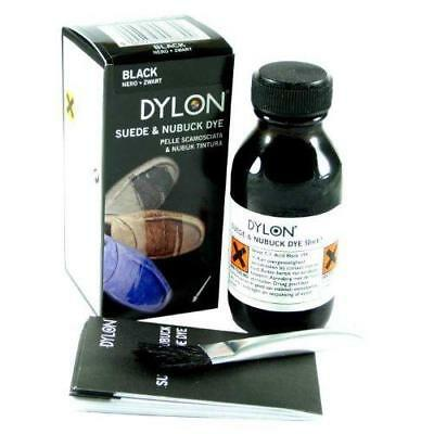 DYLON Suede Dye Black Shoe Boot Shoes With Applicator Various Fabric Brush