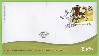 Cyprus 2010 World Cup Football Championships, South Africa on First Day Cover