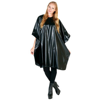 Ap-Bd324-Bk Barber Salon Beauty Betty Dain Extra Large Black Vinyl Shampoo Cape