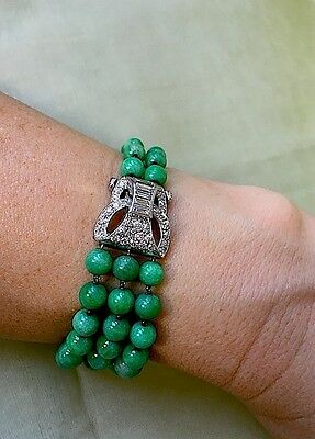 Jade - Brillant Armband  -  Art Deco - Paris 1925