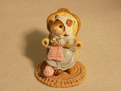 Wee Forest Folk Pearl Knit Mouse M-59 1981 Annette Petersen