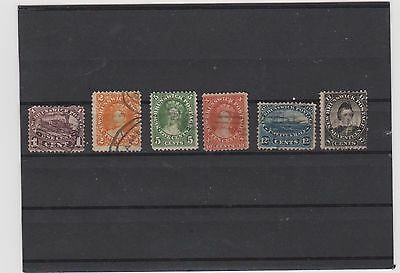 Canada - New Brunswick Lot of 6 Stamps - Used - CV $155 (Fine)