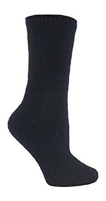 12 Pairs Ladies GENUINE Thermal Winter Warm Heat Holders Socks size 4-8 uk Black