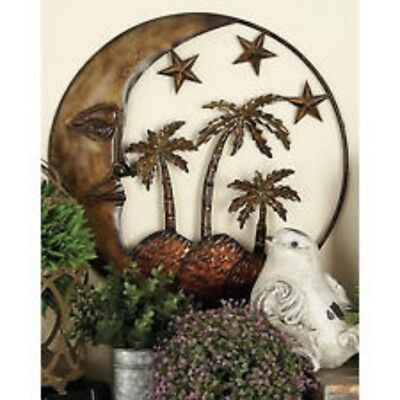 Metal Island Wall Sculptures Decor Island Sun Stars And Palms Outdoor or Indoor
