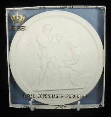 Royal Copenhagen 'Four Seasons: Summer' Bisque Wall Plaque IN BOX