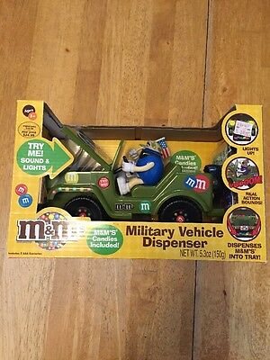M&M Candy Military Vehicle  Dispenser New in Box 2009