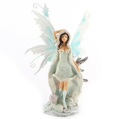 Snow Fairy White FYP 61  - Legends of Avalon Figurine with Metal Wings