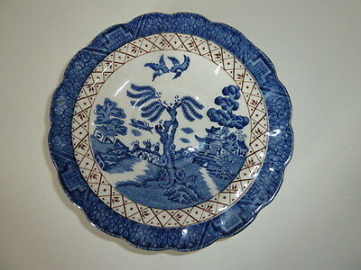 Booths - Real Old Willow -1 Frilled Edge Blue/white  Willow 14Cm Saucer - A8025