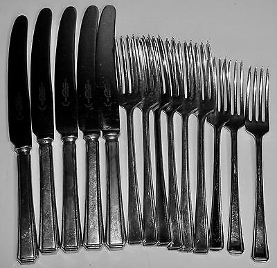 14 Pieces Beeston & Co Sheffield Harley Forks Knives EPNS Chrome Plate Stainless