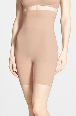 Spanx Higher Power Mid-Thigh Shaping Shorts in Soft Nude Sz L $38