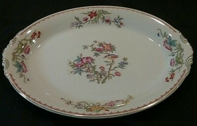 """Antique Syracuse China Bombay Oval Serving Platter 16"""" Dish Old Ivory OPCO"""