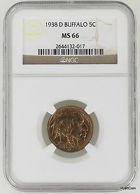 1938-D Indian Head Buffalo Nickel 5C NGC MS66 Toned
