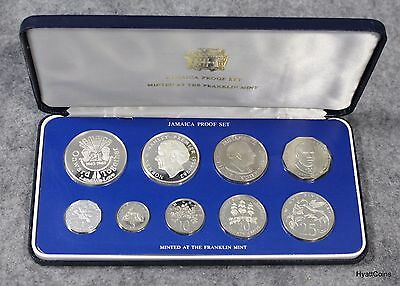 1983 Jamaica Proof Set Coin of the Realm 9 Coins Set w/ COA Franklin Mint