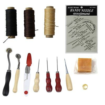Multifunctional 14pcs/set Handmade Leather Craft Hand Stitching Sewing Tool WW