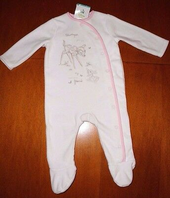 Baby Clothes Girls Disney Bambi Fleece Baby Girl Sleepsuit BNWT