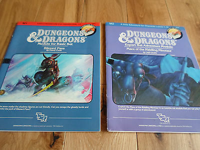 D&D Dungeons and Dragons M1 Blizzard Pass and M2 Maze of the Riddling Minotaur